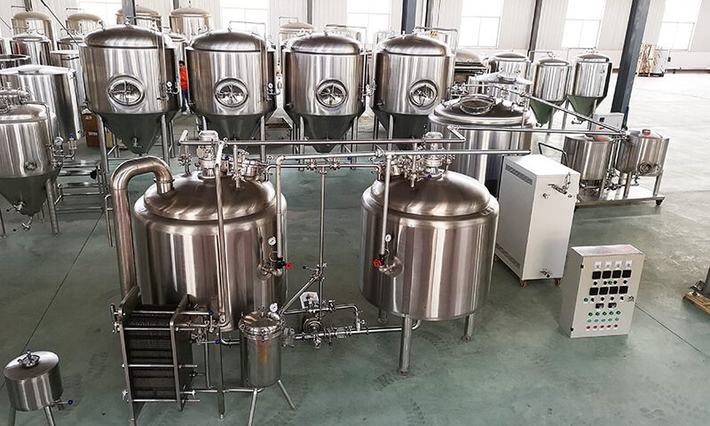 Beer-Brewing-Process-of-500L-Two-Steam-Heating-Complete-Beer-Equipment