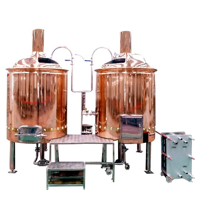 500L Red Copper Pub Beer Brewing Equipment